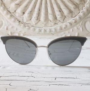Prada Pilot Cat Eye Sunglasses SPR60V (103)
